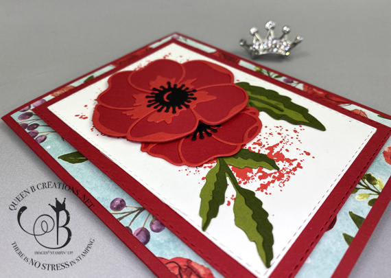 Stampin' Up! Painted Poppies Peaceful Poppies Dies Peaceful Poppies DSP handmade card by Lisa Ann Bernard of Queen B Creations
