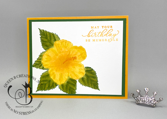 Stampin' Up! Timeless Tropical stamp set In the Tropics Dies Masking Technique with Post-It and Masking Fluid by Queen B Creations