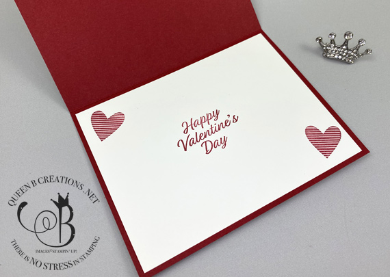 Stampin' Up! Hand Lettered Prose Be Mine Valentine'd Day card by Lisa Ann Bernard of Queen B Creations