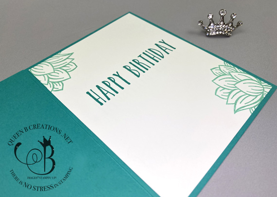 Stampin' Up! Lovely Lily Lasting Lily Perennial Birthday by Lisa Ann Bernard of Queen B Creations