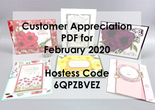 Peaceful Poppies Suite Customer Appreciation PDF from Lisa Ann Bernard of Queen B Creations for February 2020