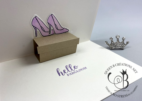 Stampin' Up! Best Dressed Buy the shoes handmade card by Lisa Ann Bernard of Queen B Creations