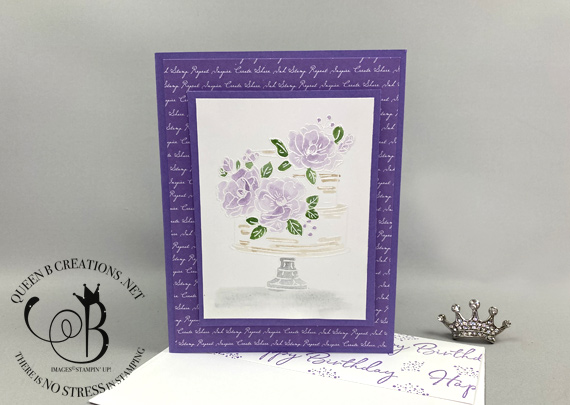 Stampin' Up! Happy Birthday To You Sale-A-Bration set purple watercolor birthday card by Lisa Ann Bernard of Queen B Creations
