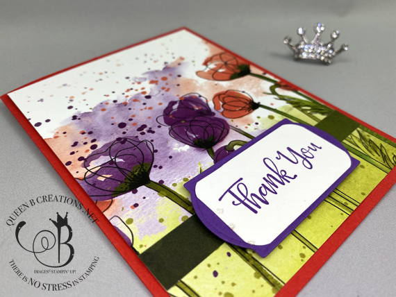 Peaceful Poppies DSP Thank You card by Lisa Ann Bernard of Queen B Creations
