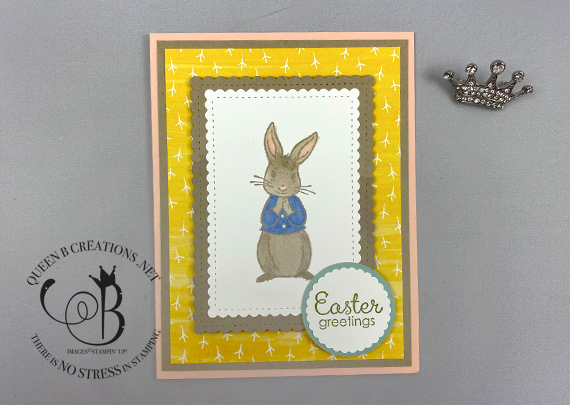 Stampin' Up! Fable Friends Easter Greetings Card by Lisa Ann Bernard of Queen B Creations