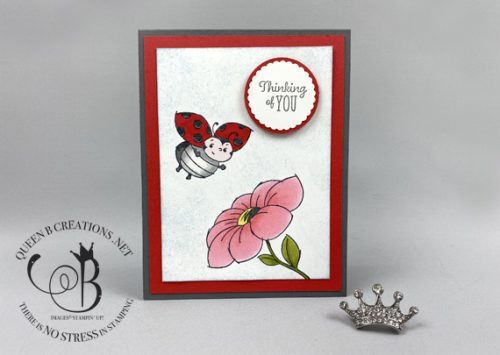 Stampin' Up! Little Ladybug Sale-A-Bration 2020 colored with Stampin' Blends by Lisa Ann Bernard of Queen B Creations