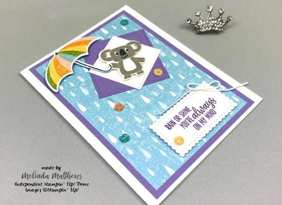 Stampin' Up! Bonanza Buddies Under My Umbrella by Melinda Matthews of Creative Royalty