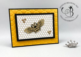 Detailed Bee Belated Birthday Card