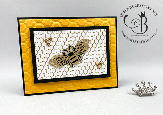 Stampin' Up! Golden Honey Bee card by Lisa Ann Bernard of Queen B Creations