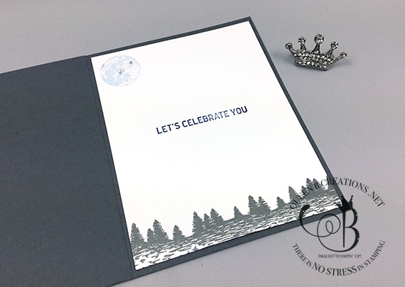 Stampin' Up! Majestic Mountain Air It's Your Day card by Lisa Ann Bernard of Queen B Creations