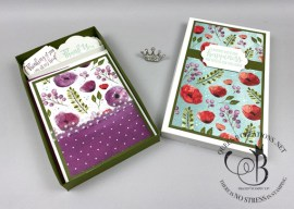 Box of Peaceful Poppies Cards
