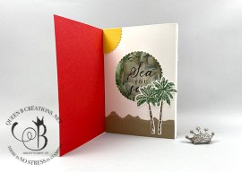 Tropical Oasis Shadow Box Card