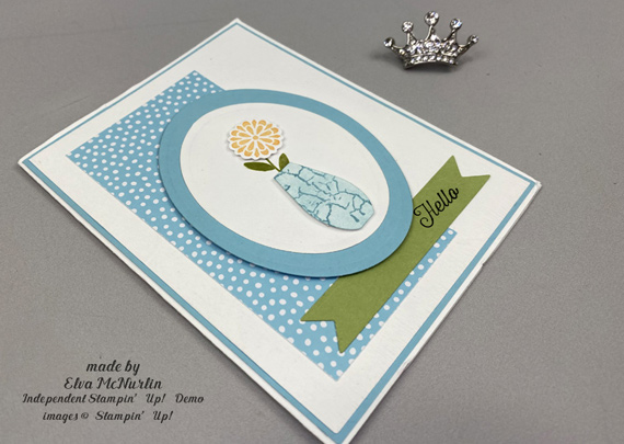 Stampin' Up! Varied Vases Builder Punch card by Elva McNurlin of Creative Royalty