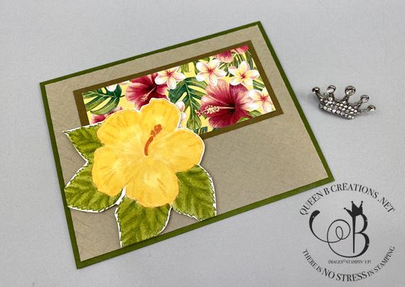 Stampin' Up! Timeless Tropical Oasis handmade card by Lisa Ann Bernard of Queen B Creations