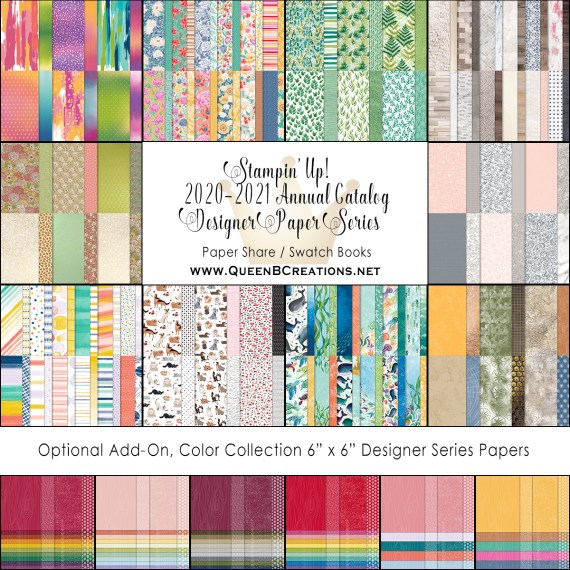 2020-2021 Stampin' Up! Annual Catalog DSP paper shares By Lisa Ann Bernard of Queen B Creations
