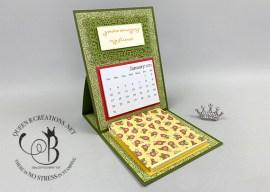 Ornate Thanks Mini Desk Calendar