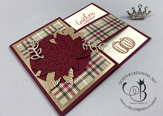 Stampin' Up! Gather Together buckle fold card by Lisa Ann Bernard of Queen B Creations