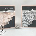 Stampin Up Peony Garden Drapery Fold Cards by Lisa Ann Bernard of Queen B Creations