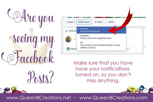 Turn on notifications for Queen B Creations, Lisa Ann Bernard Independent Stampin' Up! Demonstrator
