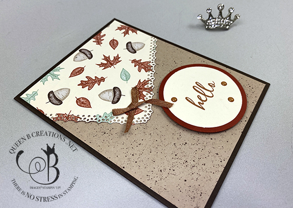 Stampin' Up! Gilded Autumn Gather Together Hello card by Lisa Ann Bernard of Queen B Creations