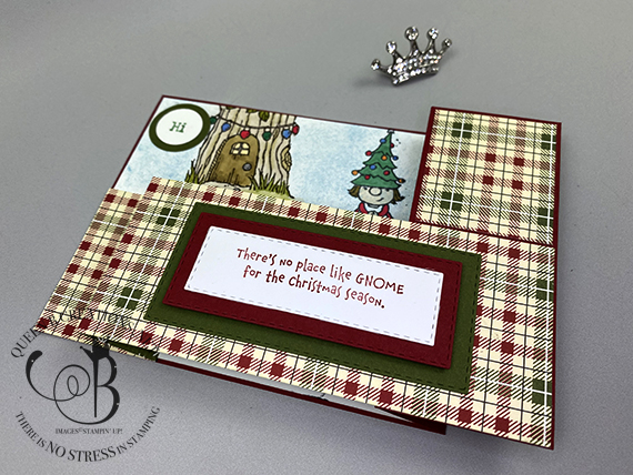 Stampin' Up! Gnome for the Holidays wiper card technique with video tutorial by Lisa Ann Bernard of Queen B Creations
