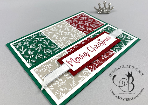 Stampin' Up! Classic Christmas barn door card by Lisa Ann Bernard of Queen B Creations