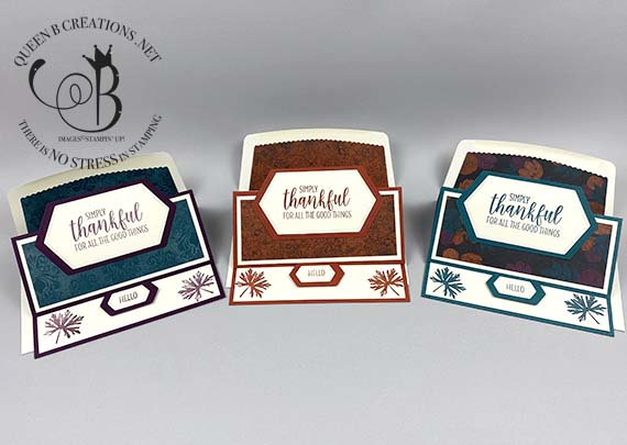 Stampin' Up! Magic In The Night DSP landscape easel card by Lisa Ann Benard of Queen B Creations