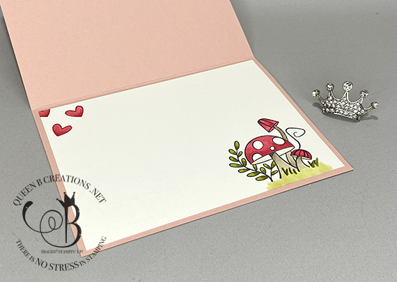 Stampin' Up! Snailed It Snail Mail Valentine Card by Lisa Ann Bernard of Queen B Creations
