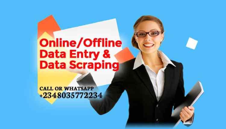 Online or Offline Data Entry Data Scraping