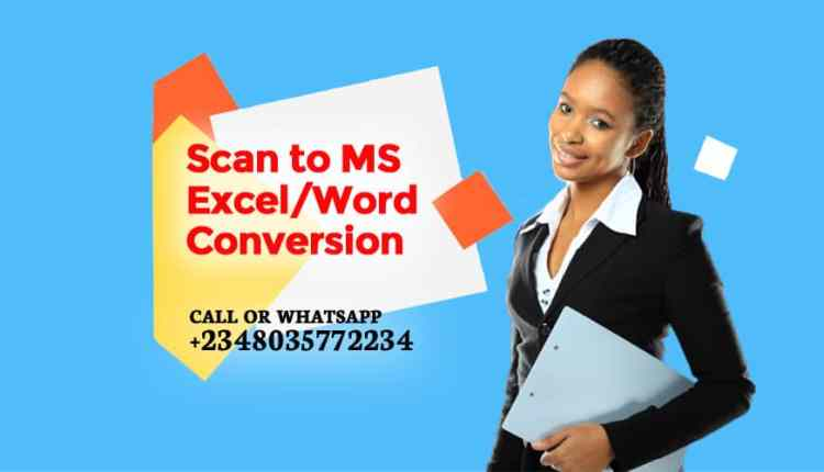 Scan to MS Excel or Word conversion