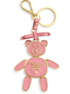 Prada Pink Leather Key Chain