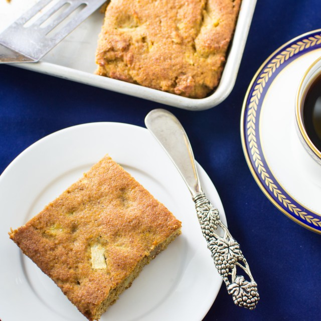Apple Flax Breakfast Squares have 9g of protein, 9g of fiber and 5,600mg of omega 3s. Gluten free, grain free, and paleo. A great alternative to a morning muffin.   QueenofMyKitchen.com