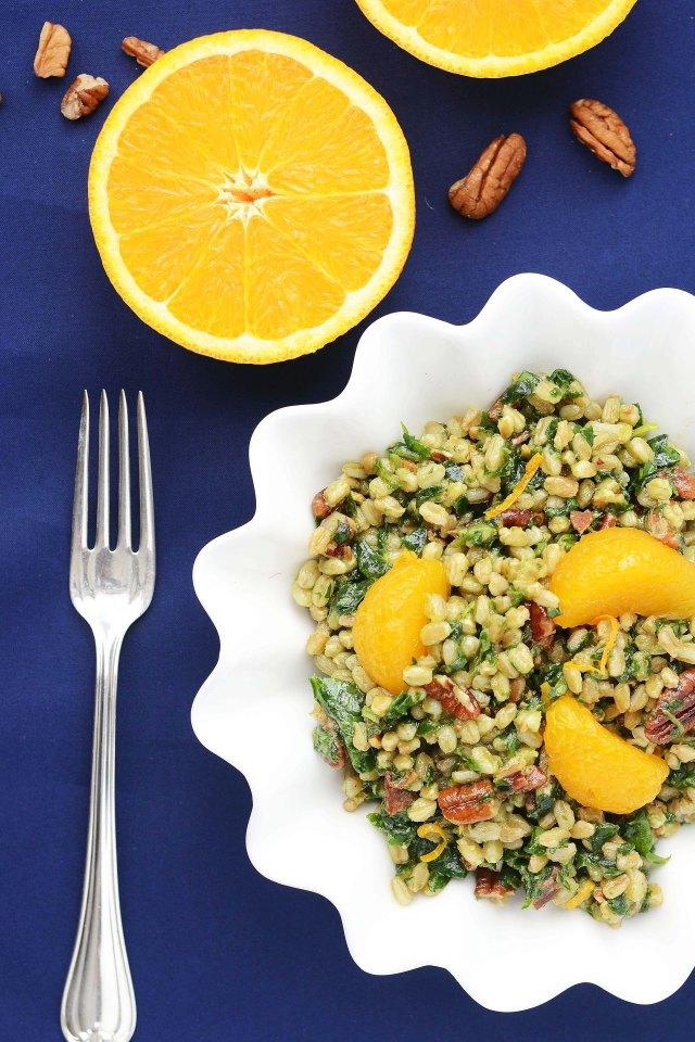 Orange Pecan Farro Salad