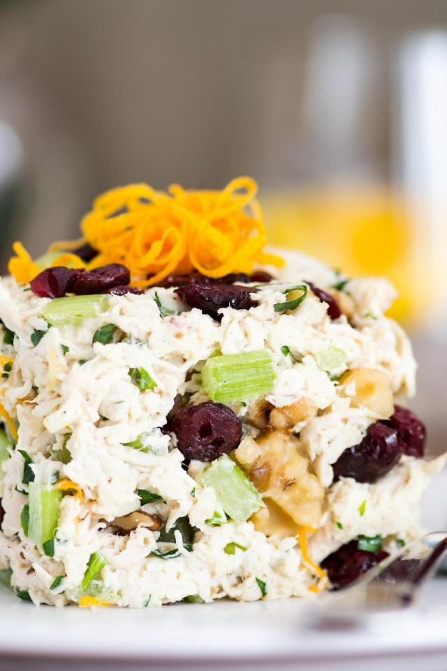 Cranberry Walnut Chicken Salad is classic chicken salad made with ...