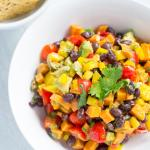 Sweet Potato Black Bean Avocado Salsa