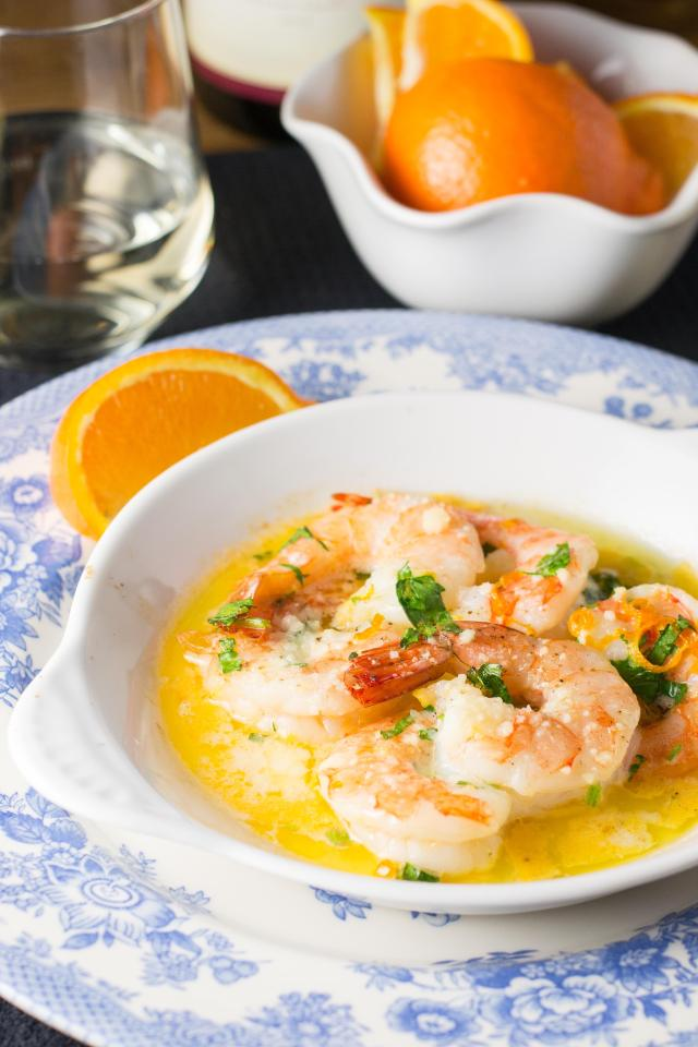 Honeybell Baked Shrimp - An easy and elegant shrimp dish made with the crown jewel of oranges! | QueenofMyKitchen.com