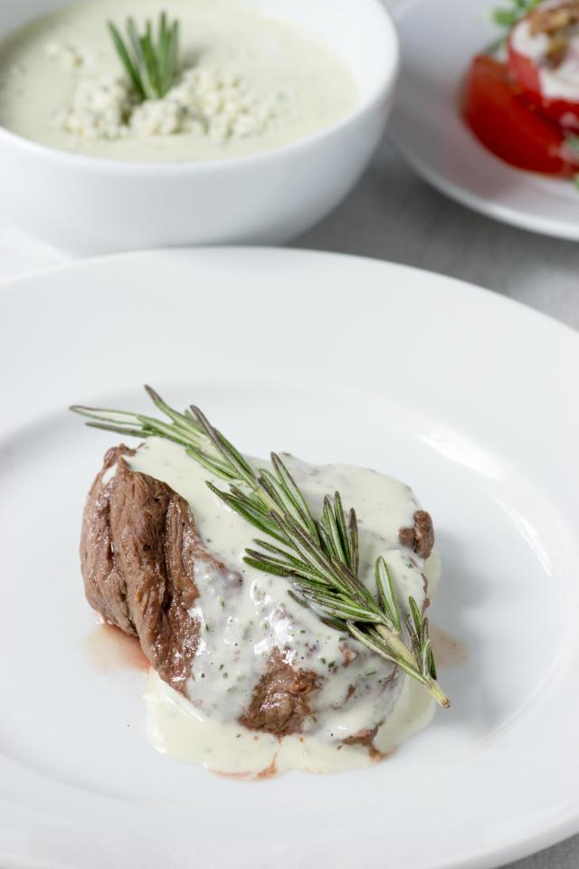 Blue Cheese Rosemary Greek Yogurt Dressing - A versatile salad dressing made with Greek yogurt that can also be used as a dip or a sauce. | QueenofMyKitchen.com