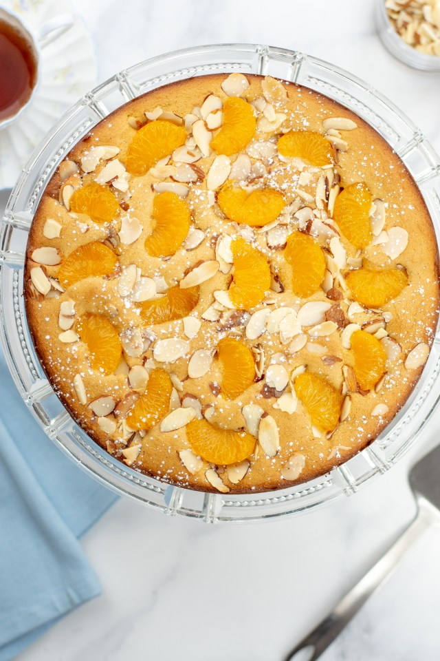 Gluten-Free Orange Almond Cake - A single layer cake you can make lightening quick. | QueenofMyKitchen.com | Versatile enough to be served as a snack, dessert, or even breakfast! #cake #glutenfree #glutenfreebaking #healthybaking #almondflour