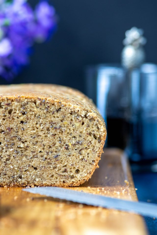 Low Carb Almond Bread - Delicious, gluten-free bread made with super clean ingredients. Only 5 grams of carbs per slice. | QueenofMyKitchen.com | #lowcarb #lowcarbbread #glutenfree #glutenfreebread #almondflour