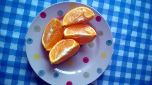 Zingy and bright, oranges are one of my favourite post run snack - and not because I'm virtuous, I just find them fun to eat