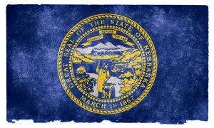 Nebraska grunge flag
