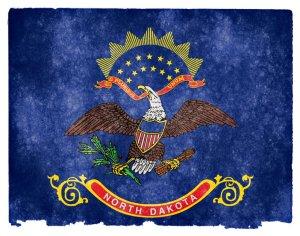 North Dakota grunge flag