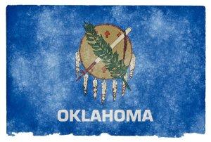 Oklahoma grunge flag