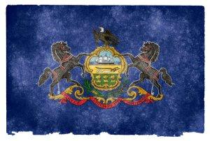 Pennsylvania grunge flag