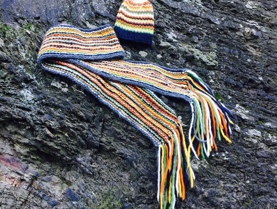 Mein Schal fürs Leben mit der Anleitung für meine Mütze