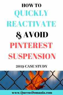 HOW TO REACTIVATE SUSPENDED PINTEREST ACCOUNT FAST-QUEENSDOMANIA.COM