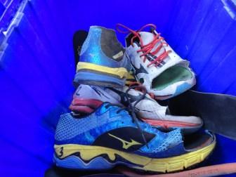 Racing shoes of ultra marathoners