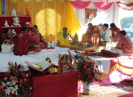 Puja being conducted