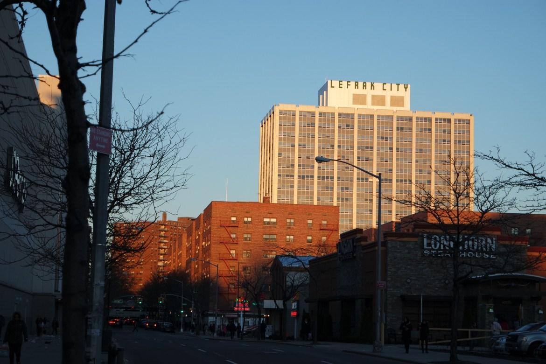 Apartment buildings in Queens, New York.