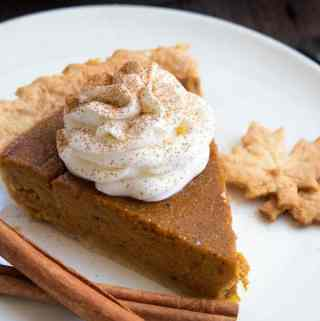 This Easy Homemade Pumpkin Pie is the perfect dessert for Thanksgiving. You'll only need a few simple ingredients to create a rich and delicious pie that'll surely wow all your guests!